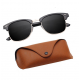 Black Classic Spectacles UV400 Sunglasses With Case 81
