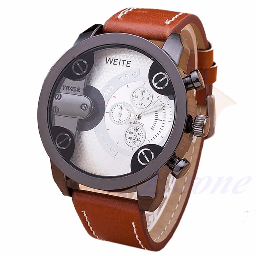military leather quartz relogio strap wristwathces new brand watches weite homber luxury masculino men dp reloj