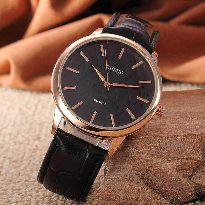 black leather strap watch watches tiagomarket shshd product