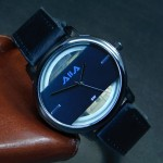 Men's Creative Hollow Dial Leather Wrist Watch 193
