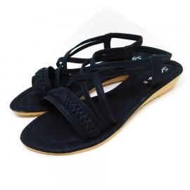 Black Women  Open Toe Sandals Summer Outdoor Slipper Shoes 06