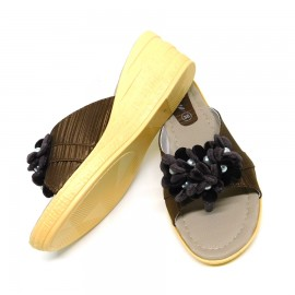 Brown Open Toe Sandals Women Summer Outdoor Slipper Shoes 03