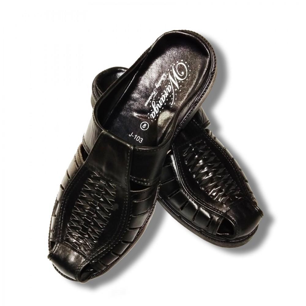 Black Classic Men's Flip Flops Casual Slipper 09
