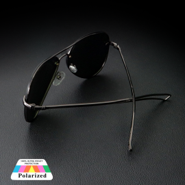 New Men's Black Polarized Vintage sunglasses With Purchase  60