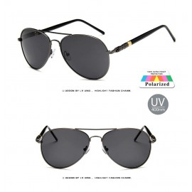 Men's Black Polarized Vintage sunglasses 32