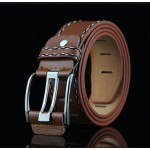Leather Men's Single Prong Business Casual Belts 27