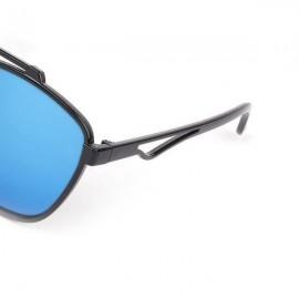 Black Frame Double Bridges UV400 Sunglasses 3
