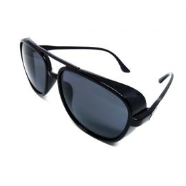 Black Vintage Square Frame Unisex Sunglasses 94