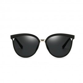 Vintage Women's Black Designer Flat Lens Sunglasses 18