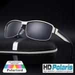 Men's Black HD Polarized Vintage sunglasses 60
