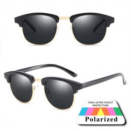 Polarized Black Classic Spectacles Sunglasses 86