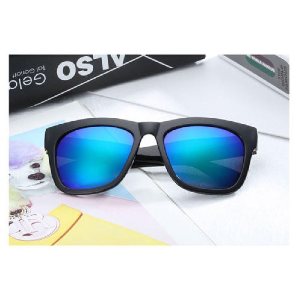 Blue Men's Women's Outdoor Fashion Mirrored Sunglasses 79