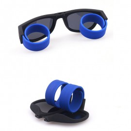 Blue Slap Fordable Snap Bracelet Style Sunglasses 66