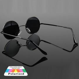 Green Polarized Lens Unisex Classic Round Sunglasses 64