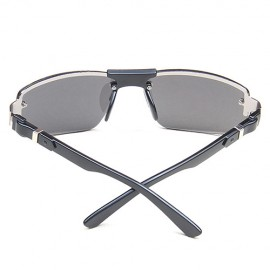 Black Rectangular Fishing Shades Sunglasses 38