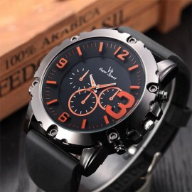 Masculino Thin Silica Sports Quartz Wrist Watch 272