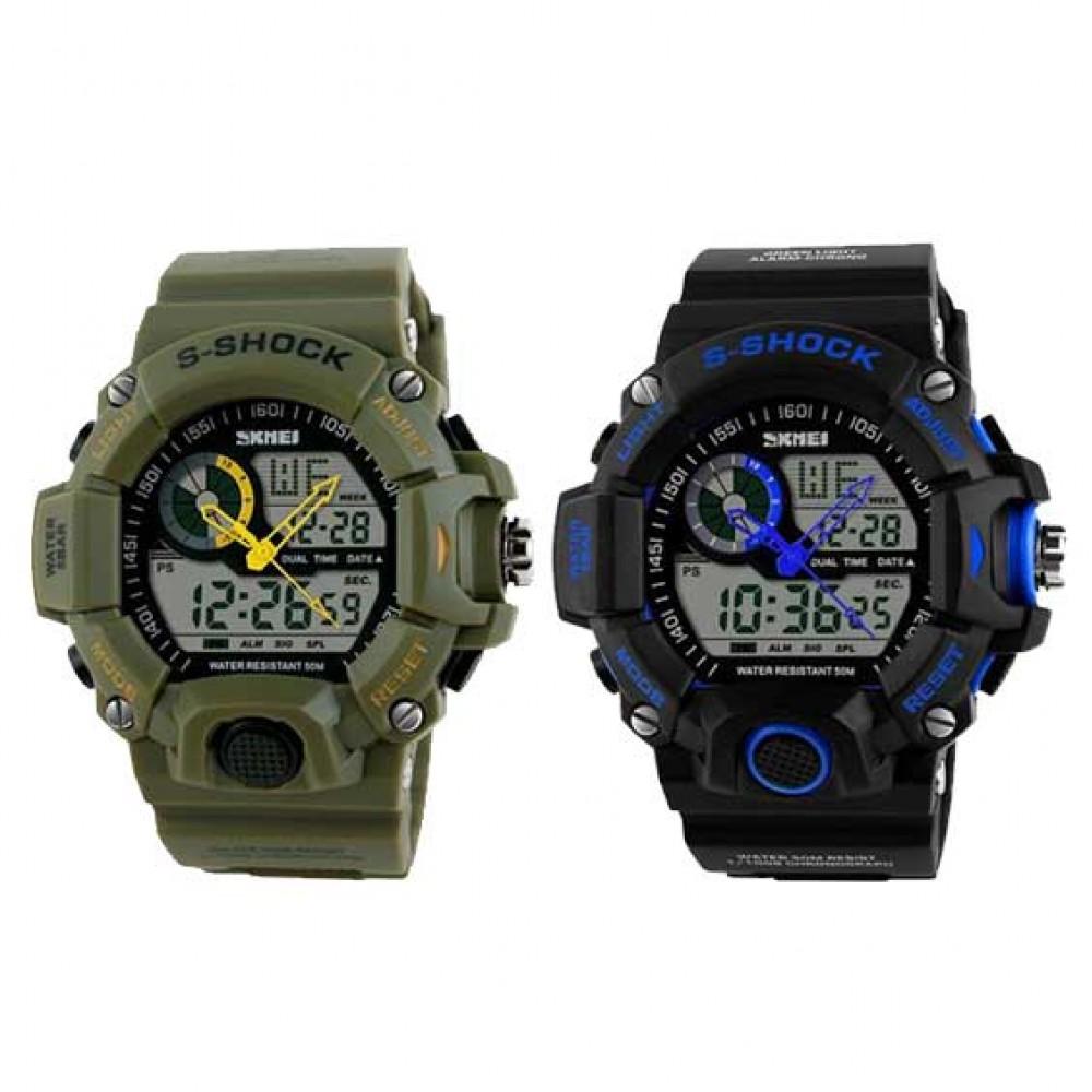 S-SHOCK Dual Sports Waterproof Wrist Watch 11