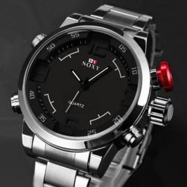 Luxury Men Stainless Steel Quartz Wrist Watch 311
