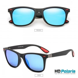Blue Polarized Retro Classic Wayfarer Sunglasses 100